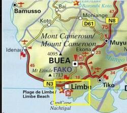 Carte des environs de Limbé