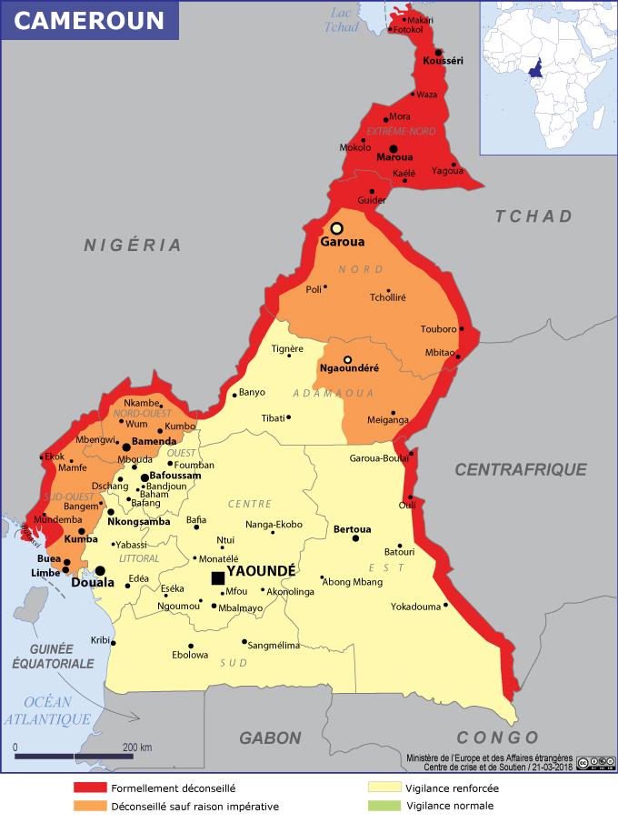 Recommandations de sécurité au Cameroun