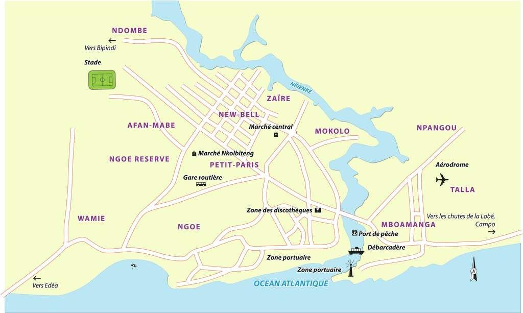 Cartes du cameroun cartes des r gions plans de yaound - Port autonome du centre et de l ouest ...