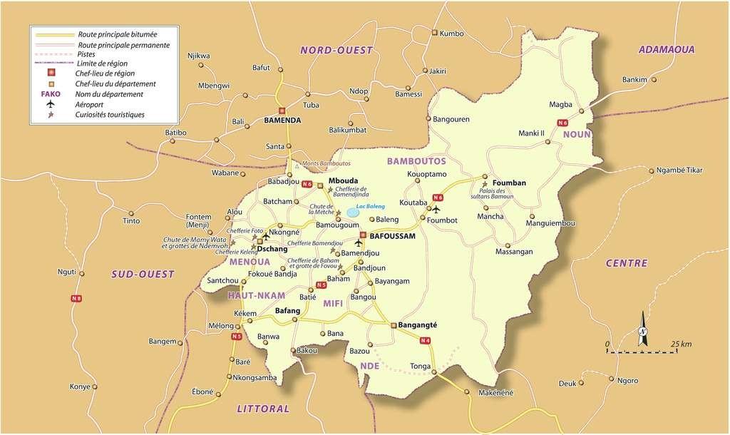 Cartes Du Cameroun Cartes Des Regions Plans De Yaounde Douala Kribi Dschang