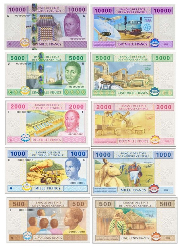 Billets de banque Cameroun