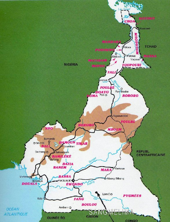 Carte des ethnies