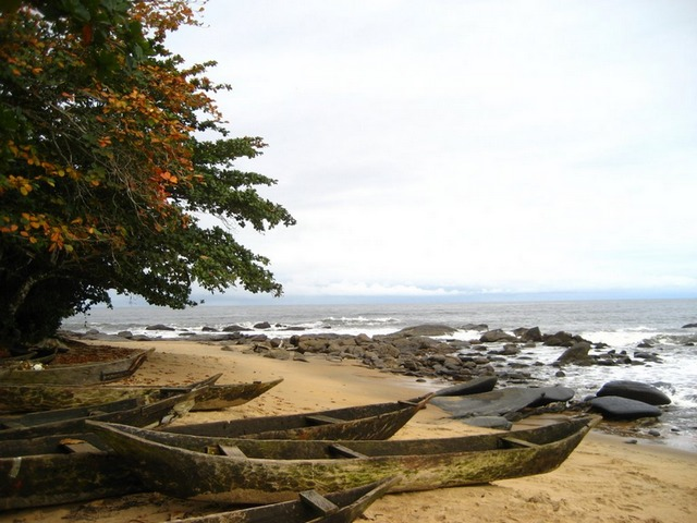 La plage d'Ebodjé