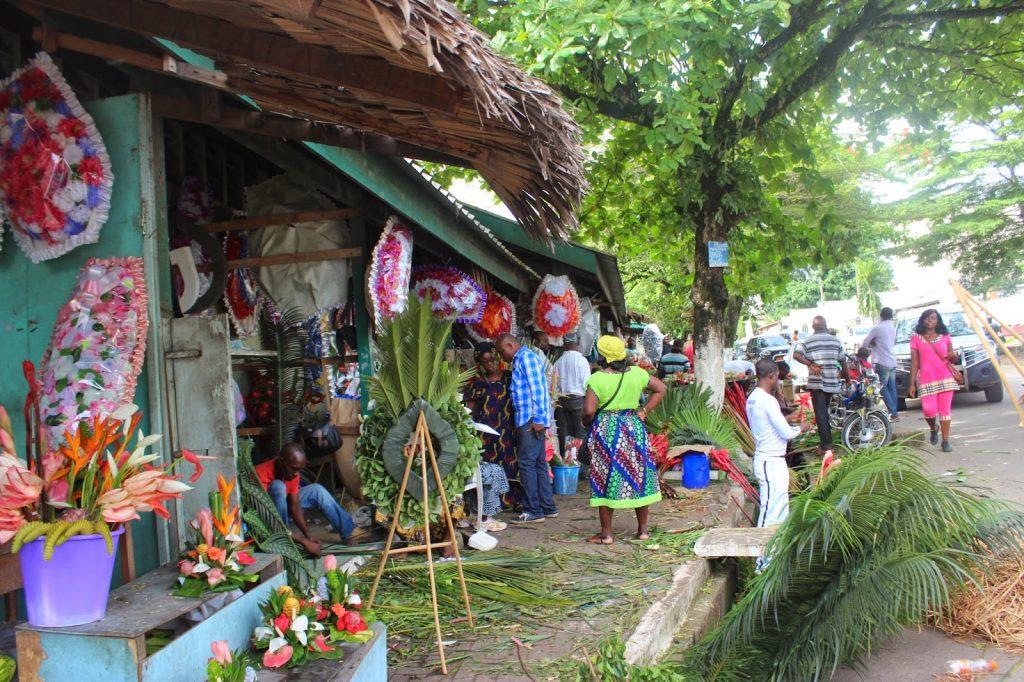 Marché des fleurs Douala